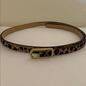 J. Crew calf hair leopard belt
